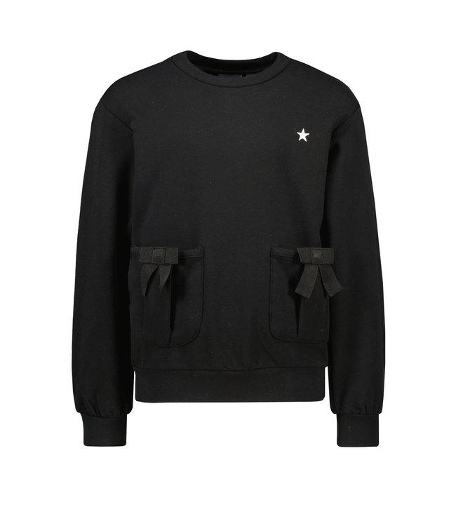 Like Flo Flo girls sweater with bow black