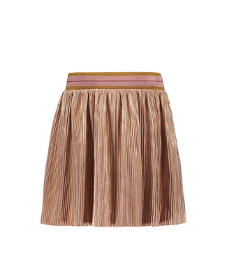 Like Flo Flo girls metallic plisse skirt rose gold