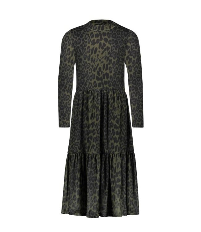 Like Flo Flo girls AO mesh long dress army