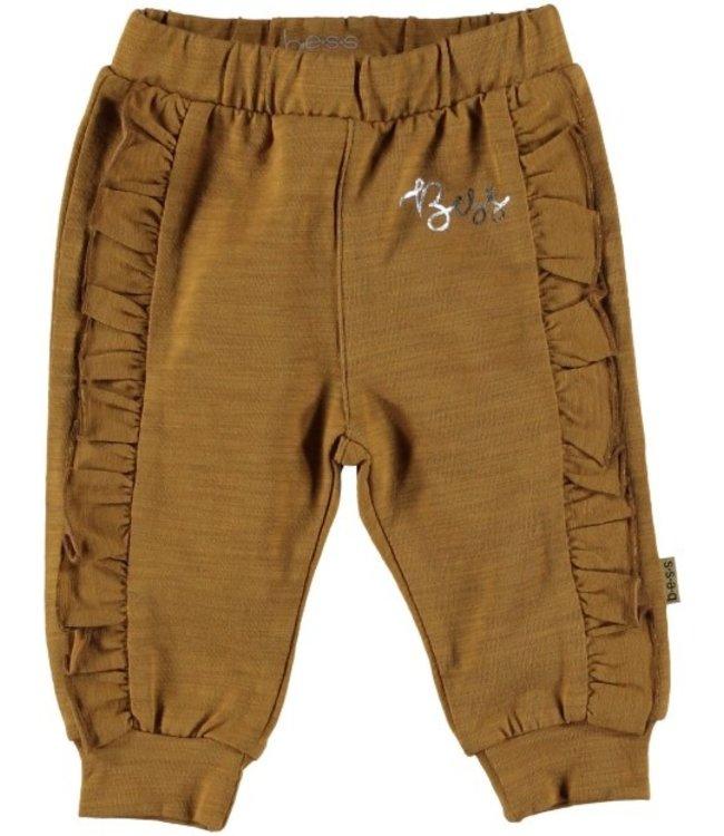 Bess Bess Pants Ruffles Brown 21232-017