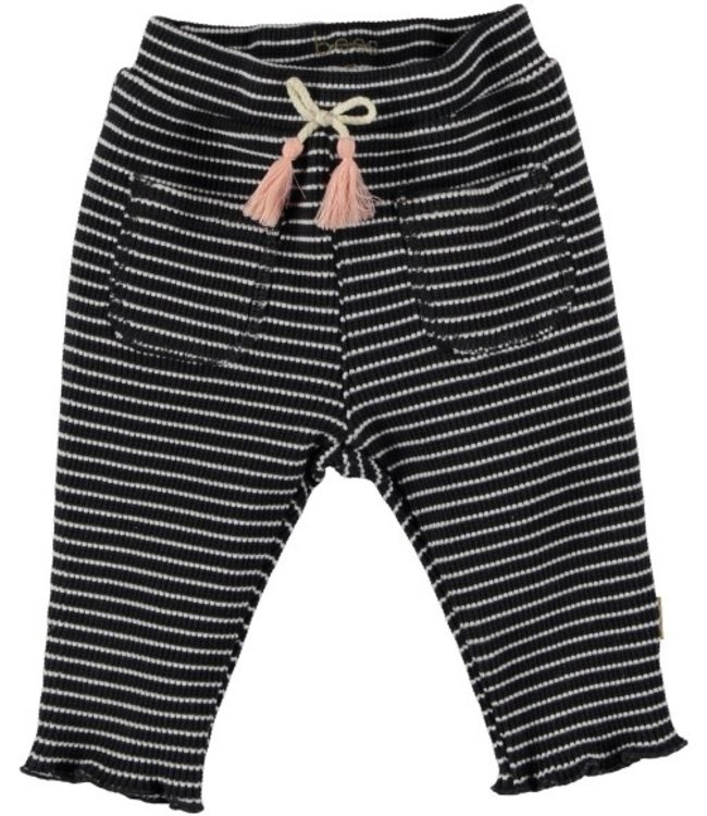 Bess Bess Pants Striped Bow Anthracite 21231-003