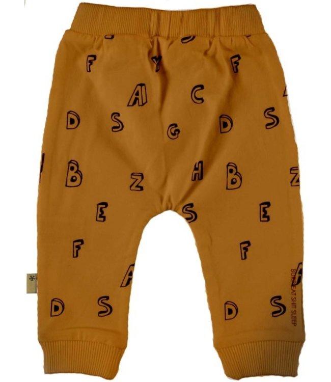 Bess Bess Pants AOP Letters Brown 21228-017
