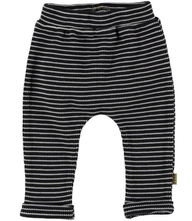 Bess Bess Pants Striped Anthracite 21227-003