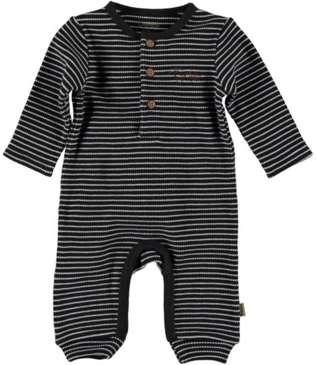 Bess Bess Suit l.sl. Striped Henley Anthracite 21218-003