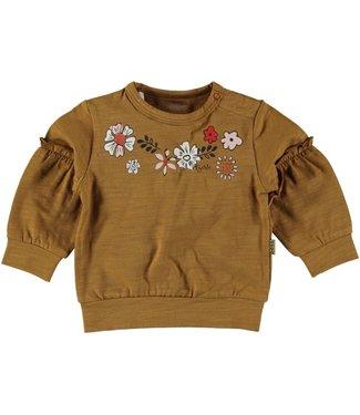 Bess Bess Sweater l.sl. Flowers Brown 21212-017