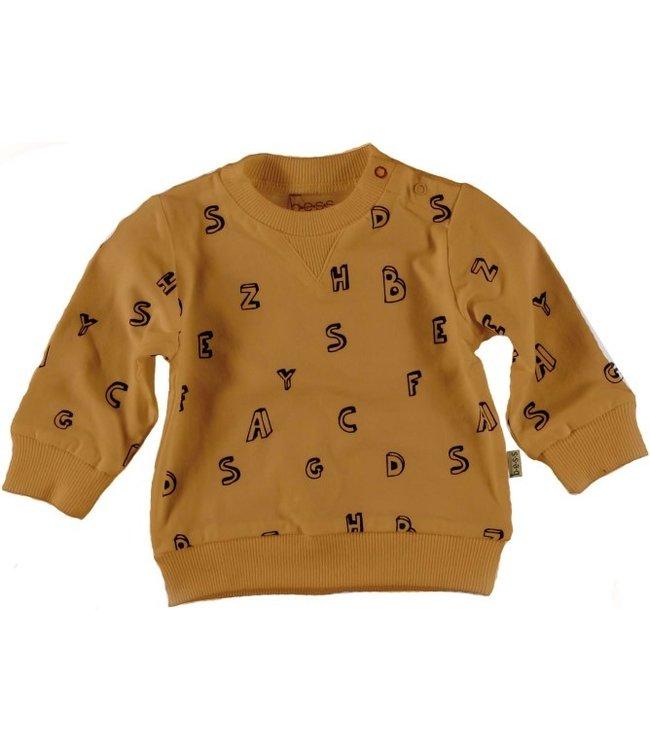 Bess Bess Sweater l.sl. Letters Brown 21211-017
