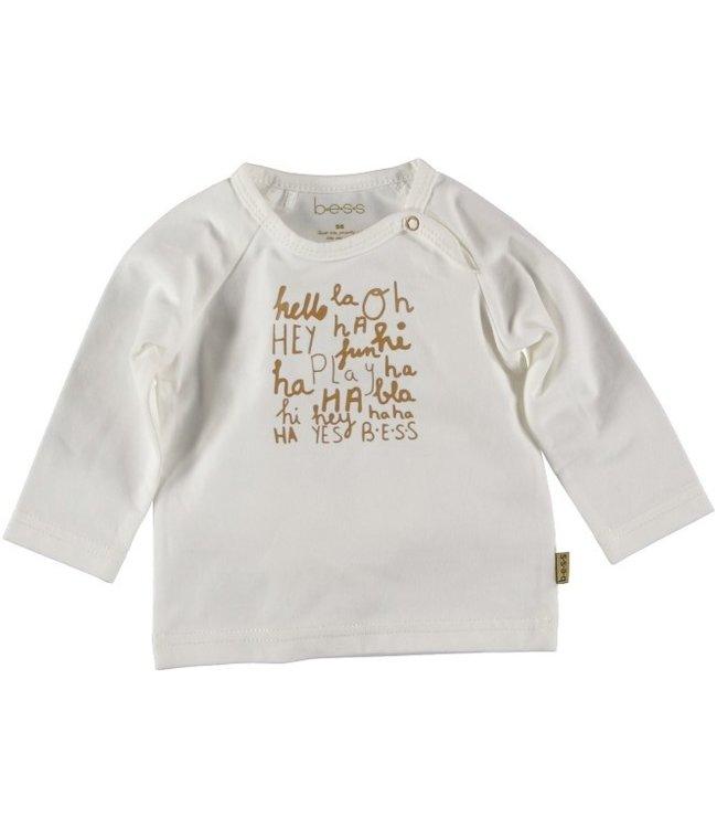 Bess Bess Shirt l.sl. Words Off White 21201-034