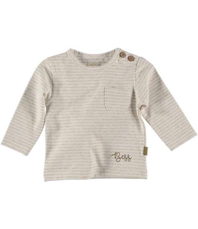Bess Bess Shirt l.sl.Striped Off White 21200-034