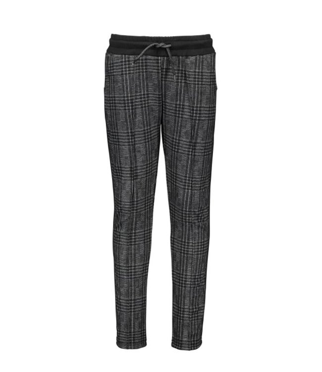 B.Nosy B-nosy Boys check sweat pants with tape on the sideseams team grey check Y109-6641 073
