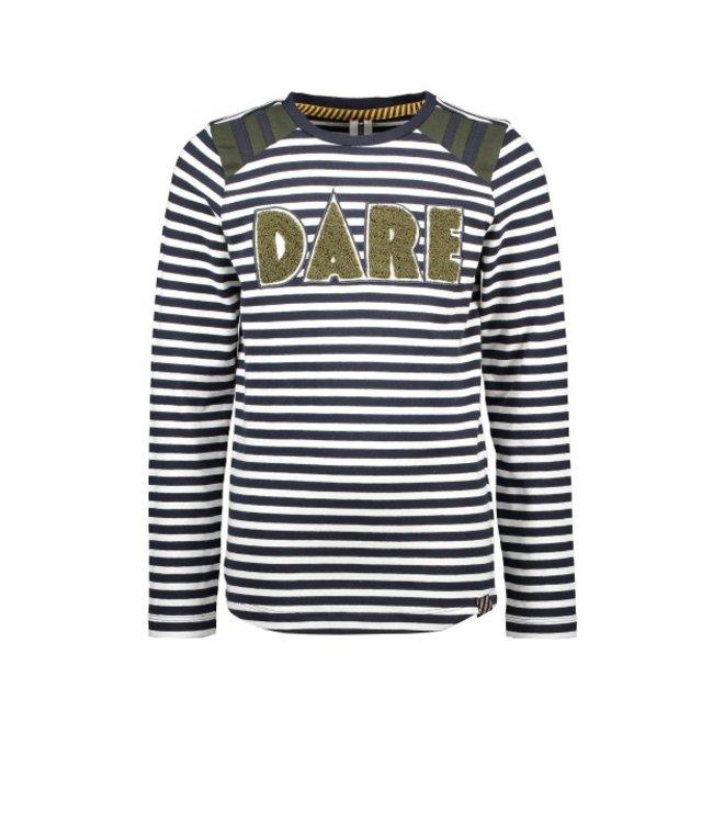 B.Nosy B-nosy Boys YDS t-shirt with frotte artwork underc. white&blue stripe Y109-6432 060