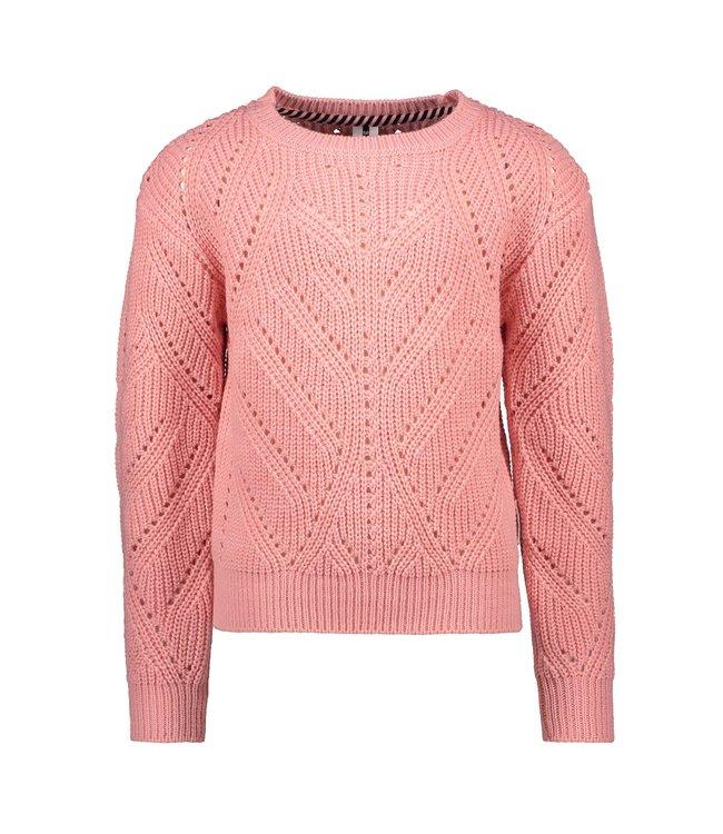B.Nosy B-nosy Girls heavy knitted cardigan punch pink Y109-5374 228