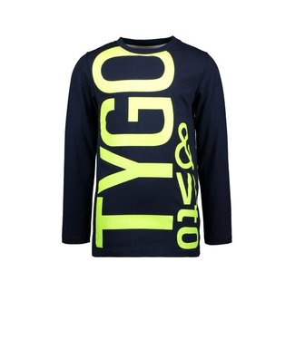 Tygo & Vito T&v Longsleeve logo print Navy X109-6440 190