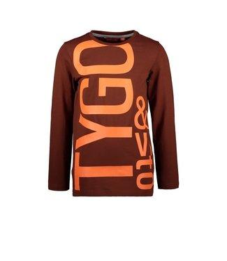 Tygo & Vito T&v Longsleeve logo print Clay Brown X109-6440 420