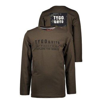 Tygo & Vito T&v Longsleeve chest + backprint Dark Army X109-6443 365