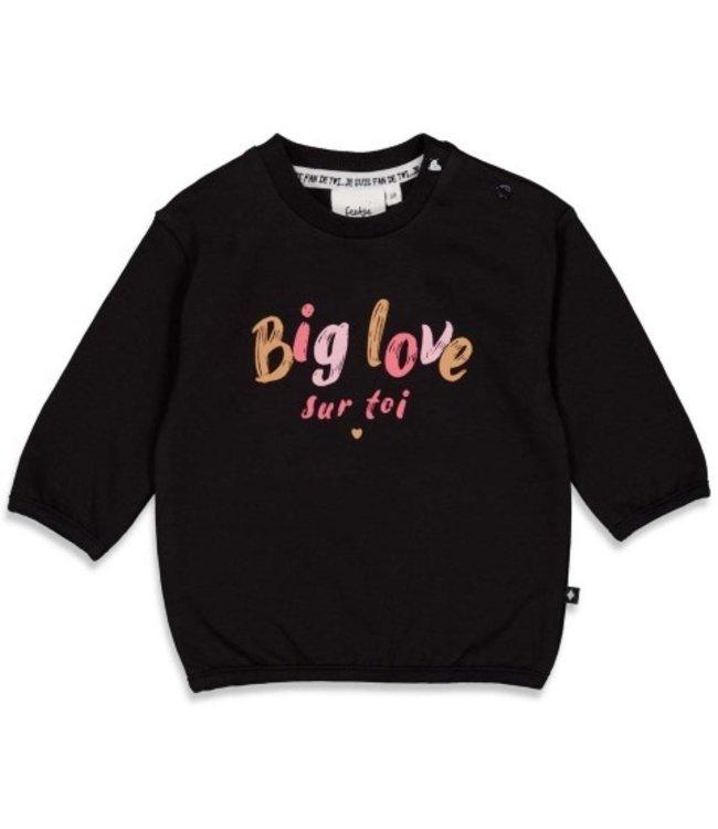 Feetje Feetje Sweater Big Love - Ooh La La Antraciet 51601811