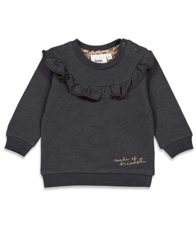 Feetje Feetje Sweater - Made Of Dreams Antraciet 51601845