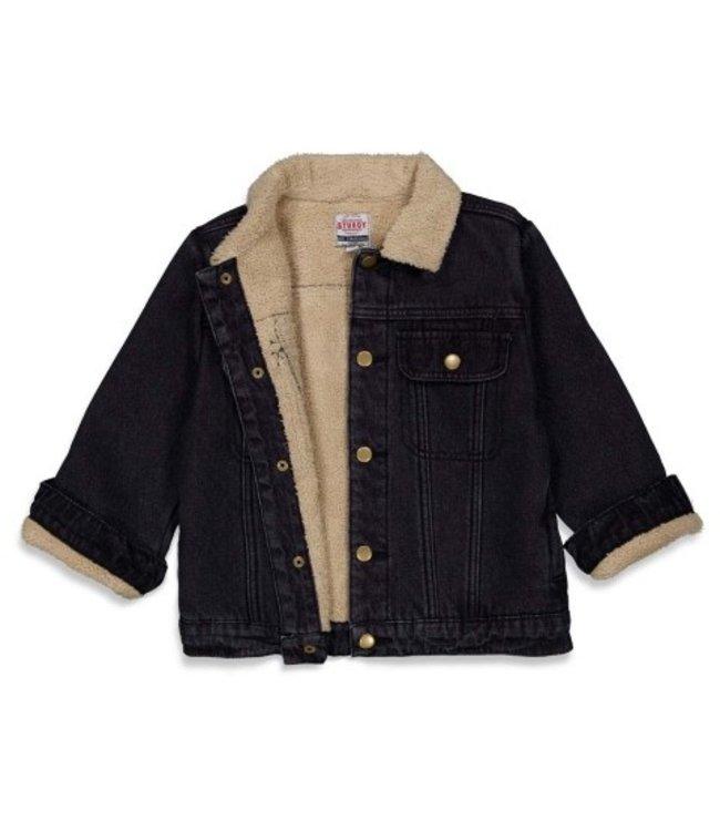 Sturdy Sturdy Jeansvest teddy - Wild Things Black Denim 71300063