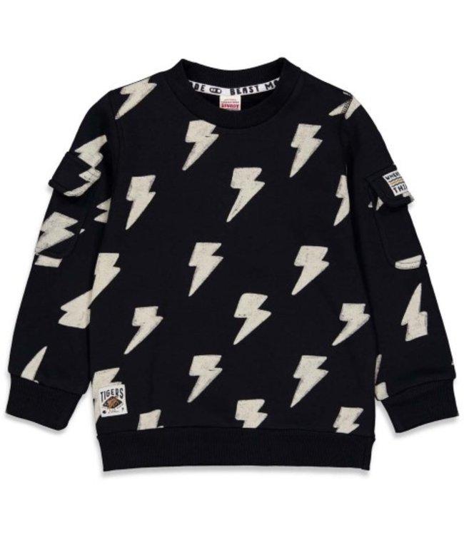 Sturdy Sturdy Sweater AOP - Wild Things Zwart 71600460