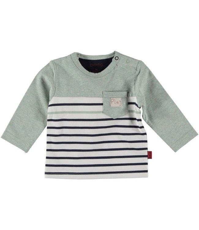 Bess Bess Shirt l.sl. Striped with Pocket Mint 21260-015