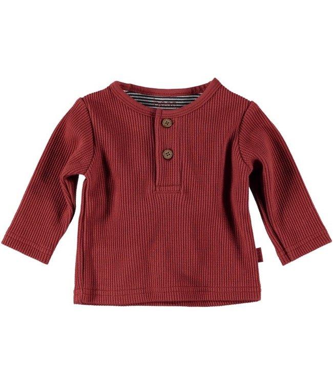 Bess Bess Shirt l.sl. Henley Burgundy 21264-044