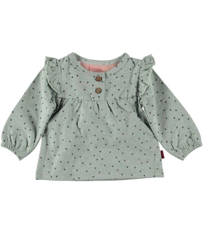 Bess Bess Shirt l.sl. Hearts Ruffles Mint 21267-015