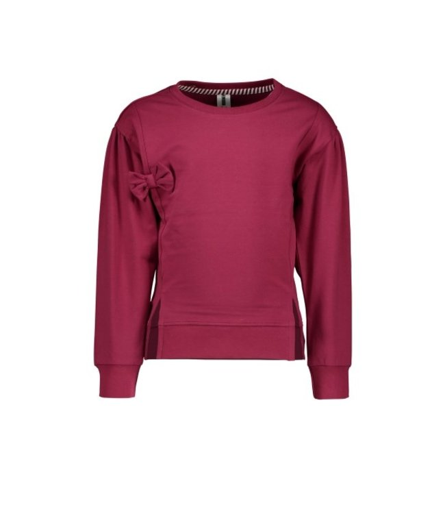 B.Nosy B-nosy Girls sweater with bow on chest maroon red Y109-5300 264