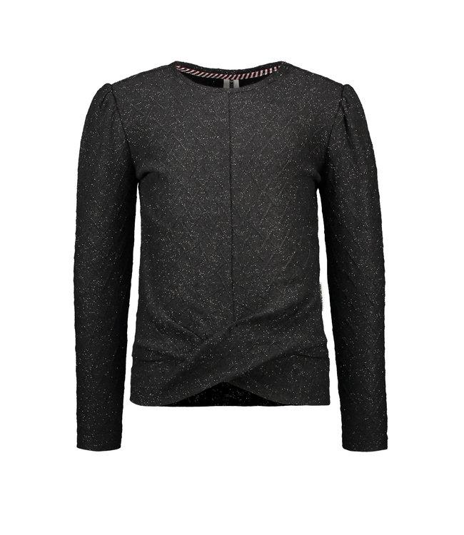 B.Nosy B-nosy Girls fine knitted top with lurex Black Y109-5390 099