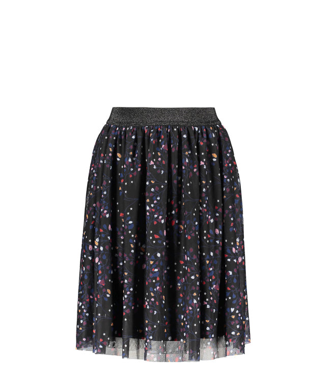 B.Nosy B-nosy Girls printed netting midi skirt spark floral AO Y109-5700 014