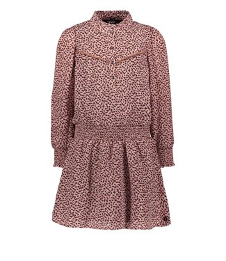 Like Flo Flo girls woven crepe dress old pink