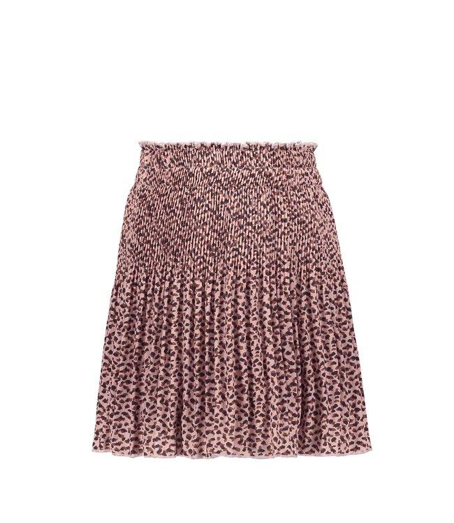 Like Flo Flo girls woven crepe plisse skirt old pink