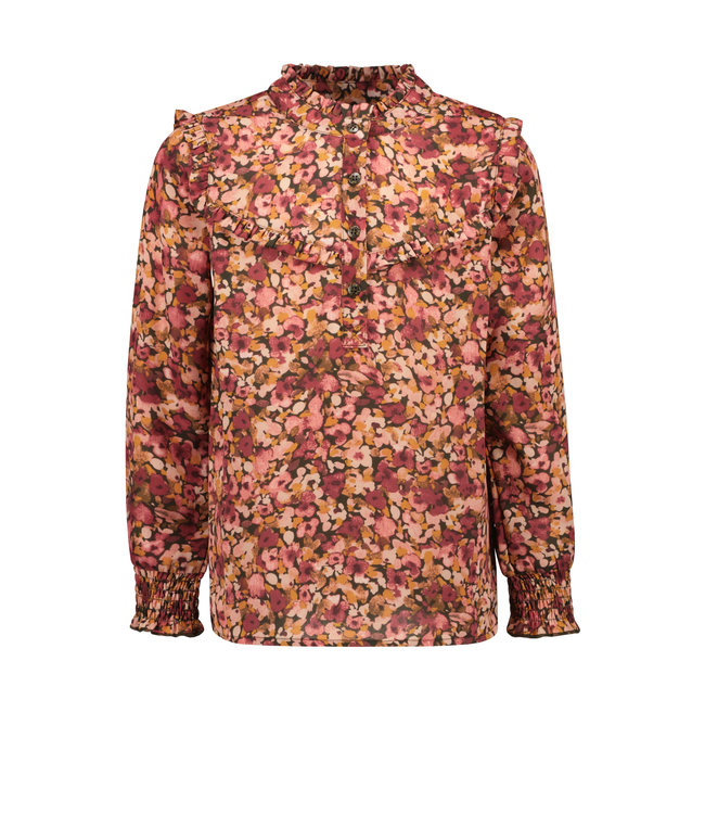 Like Flo Flo girls woven crepe blouse camou flower