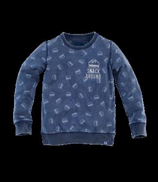 Z8 Z8 Snack around Sweater Catfish Indigo/AOP
