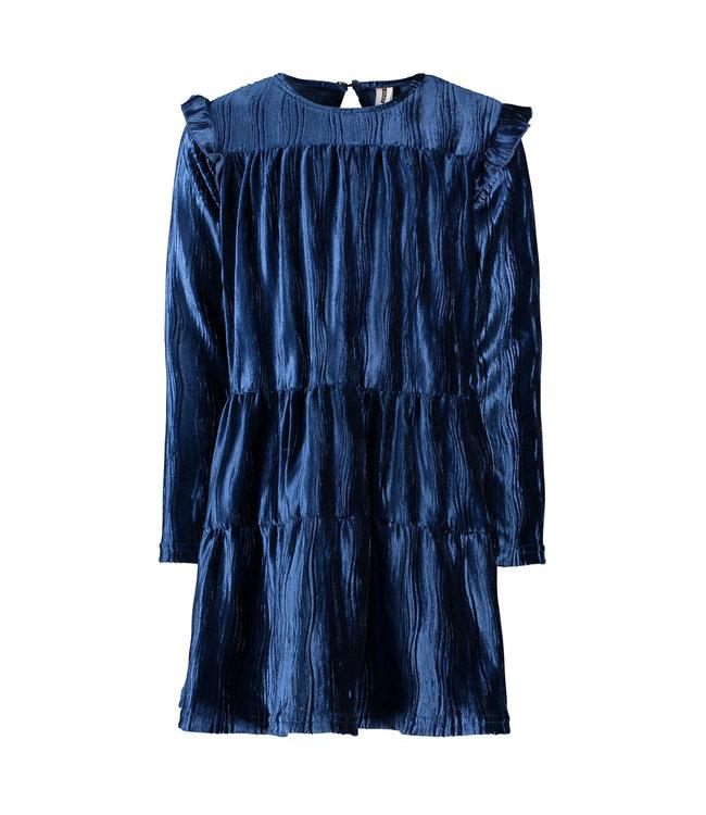 B.Nosy B-nosy Girls velvet dress lake blue Y109-5803 159