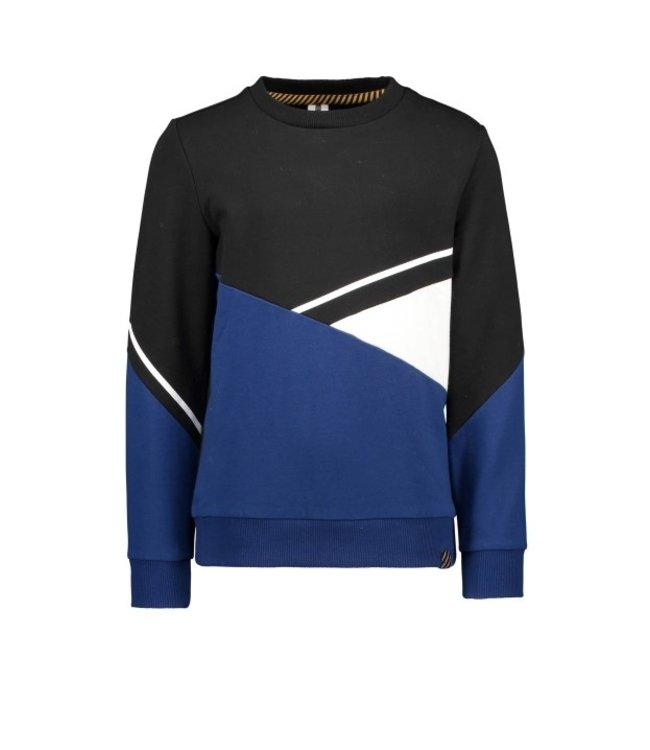 B.Nosy B-nosy Boys sweater with contrast panels Black Y109-6300 099