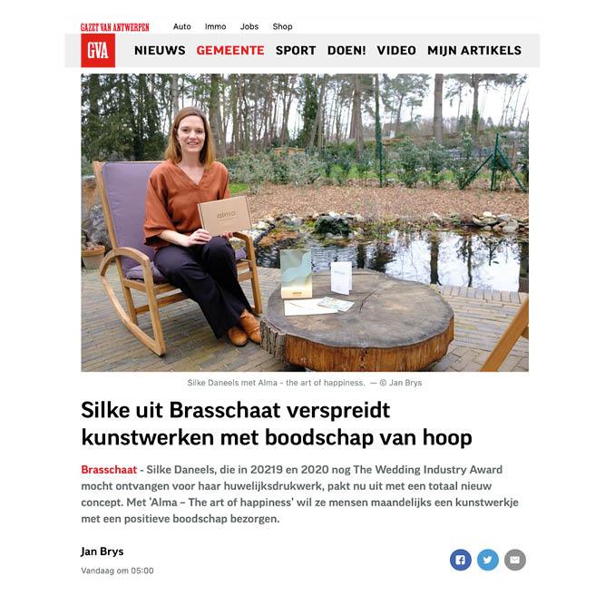 Alma in de pers - Gazet van Antwerpen - GVA