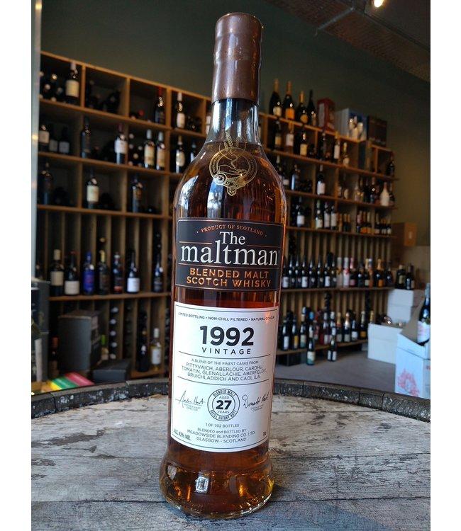 Blended Malt Scotch Whisky 1992 - The Maltman