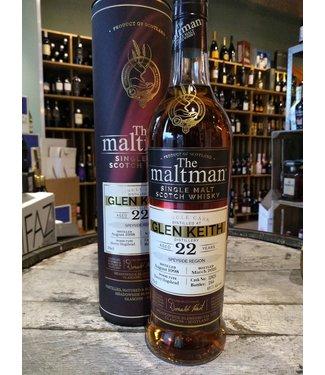 Speyside distillery Glen Keith 1998 - 22 years - The Maltman