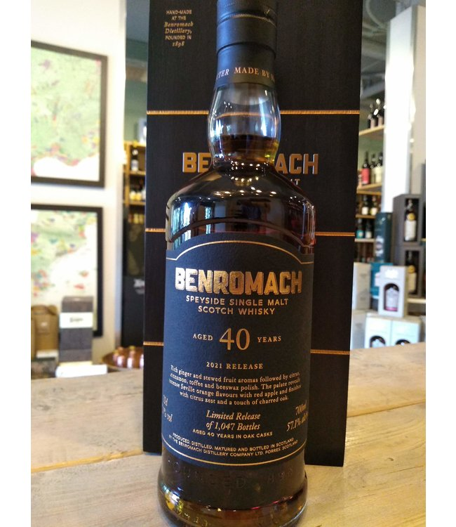 Benromach 40 years - cask strenght 2021