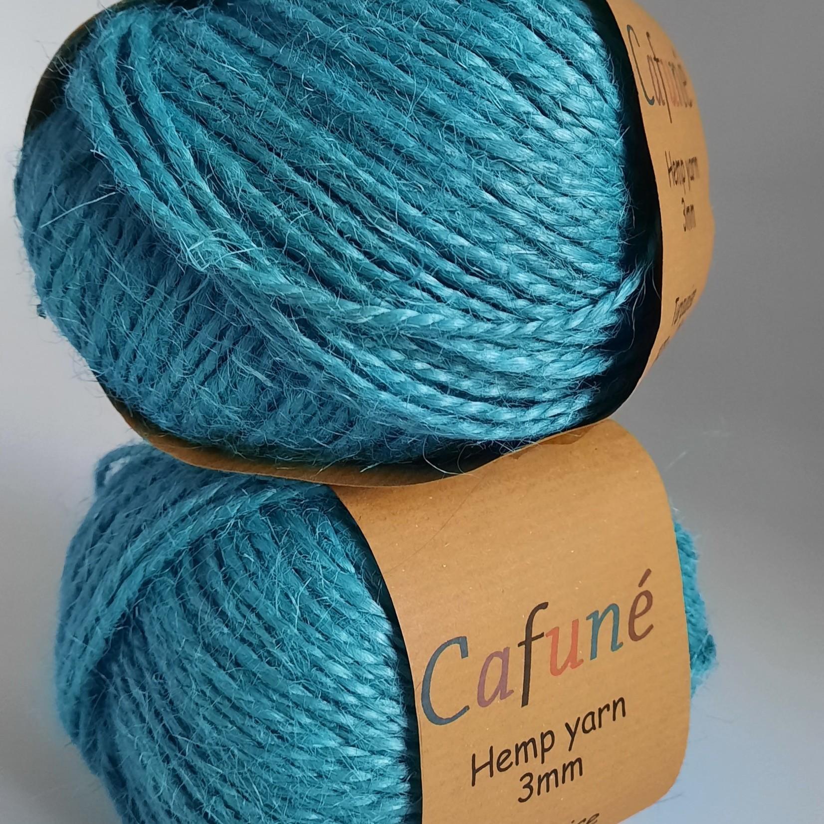 Hennep touw 2mm Turquoise