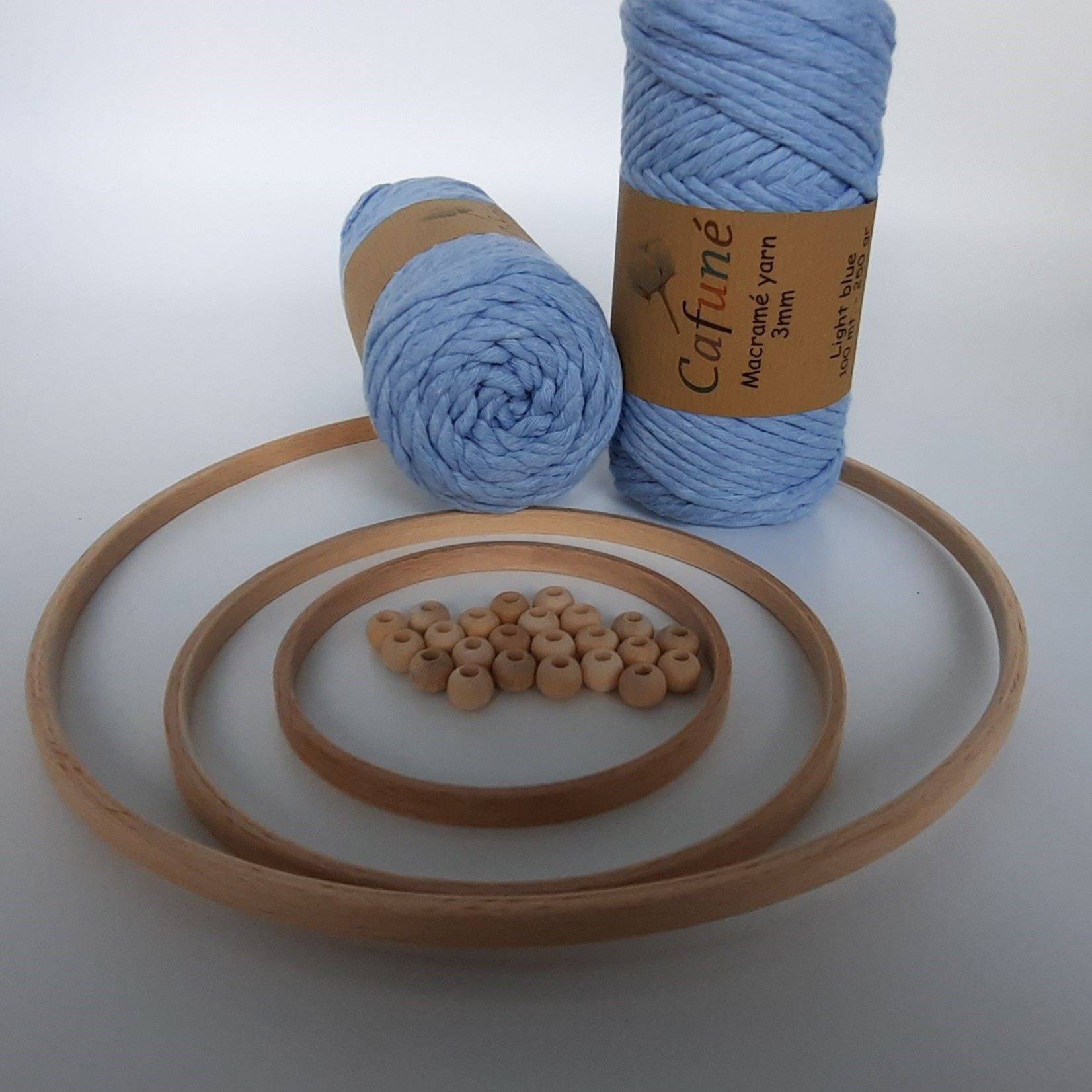 DIY set Houten ringen en kralen