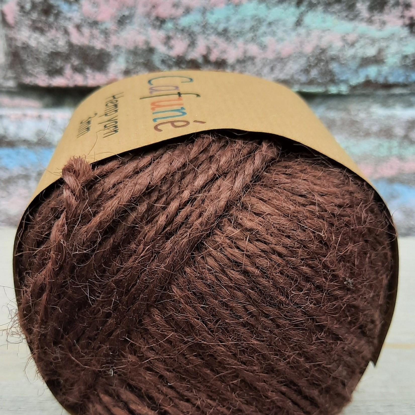 Macrame henneptouw 2mm Bruin