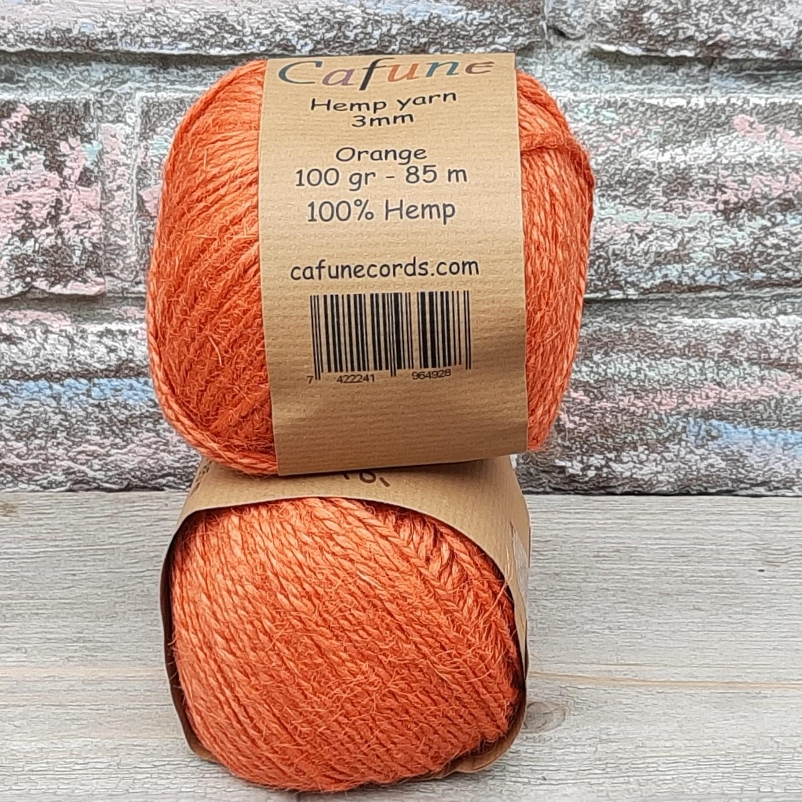 Hennep  touw 2mm Oranje
