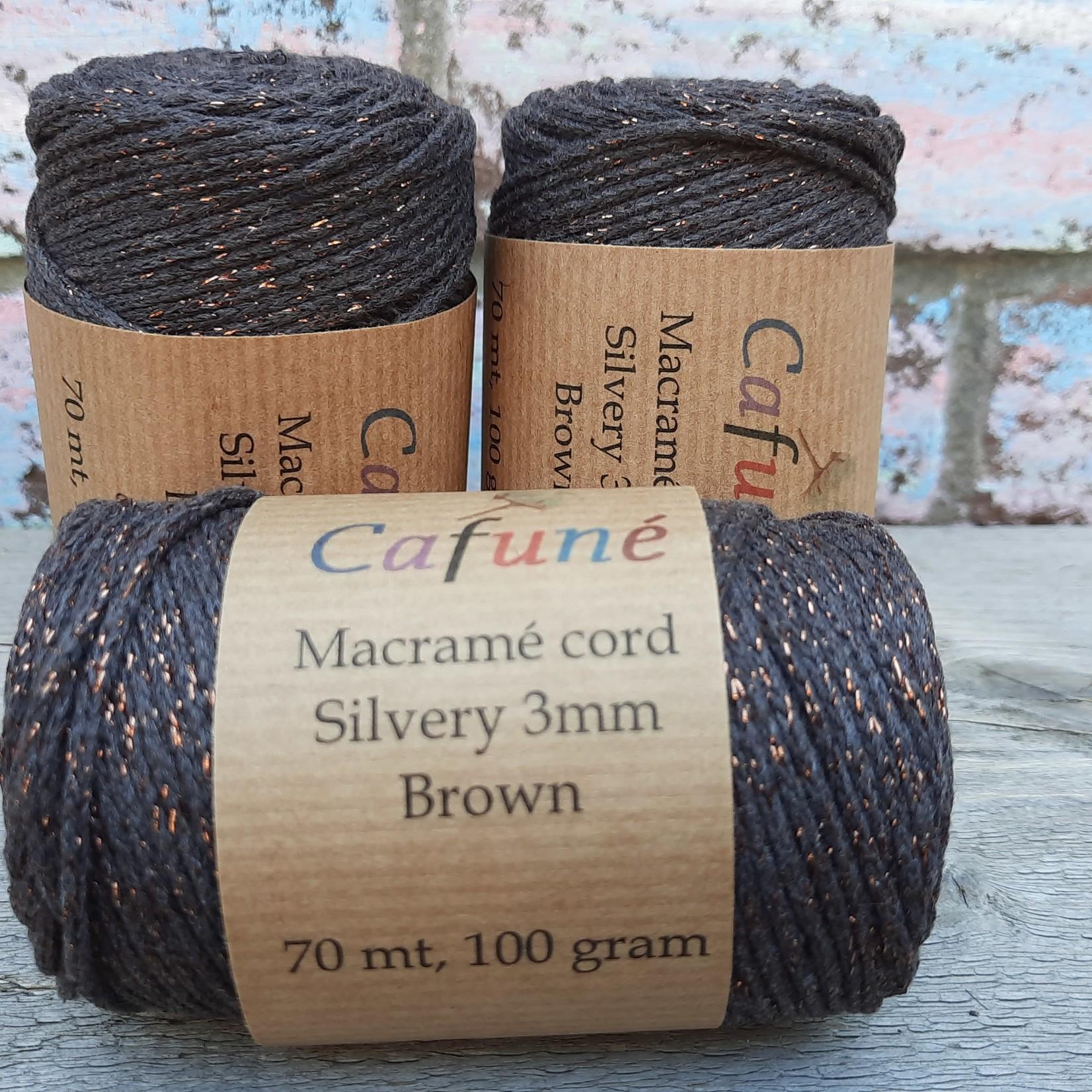 Cafuné Silvery koord Bruin 3mm