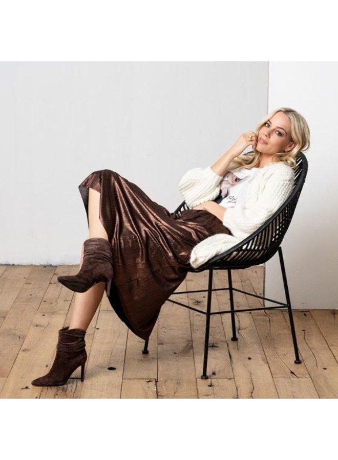 Esqualo Skirt lame plisse bronze