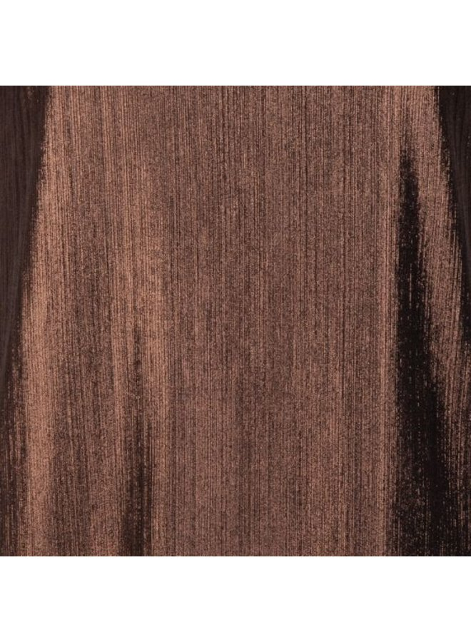 Esqualo Top lame plisse bronze