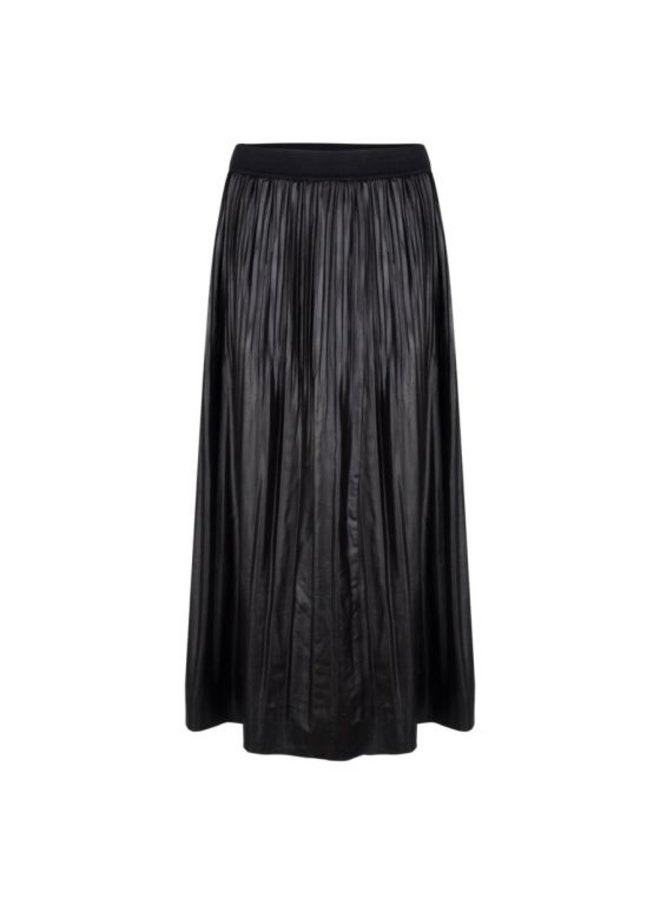 Esqualo Skirt long fake PU Black