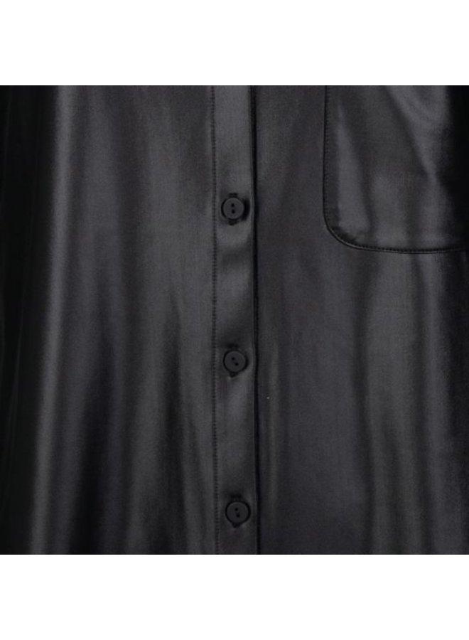 Esqualo Blouse fake PU Black