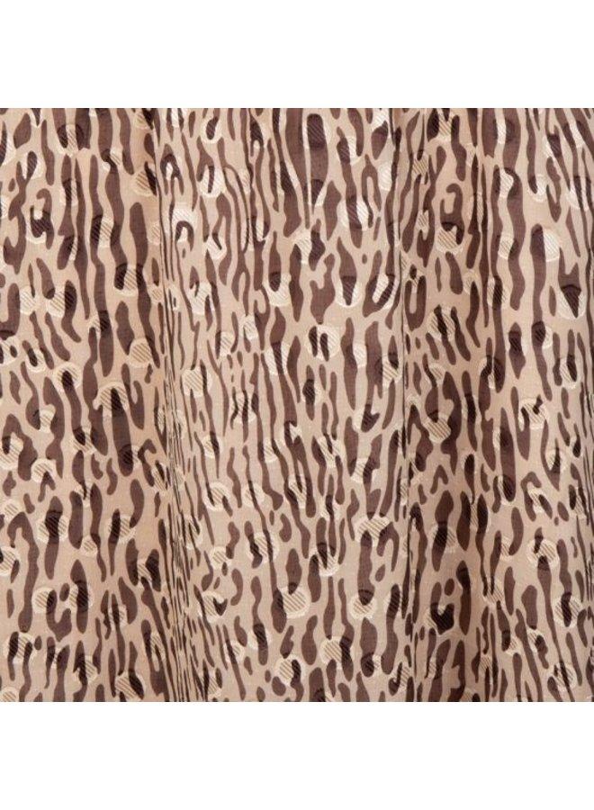 Esqualo dress long zebra jacquard print