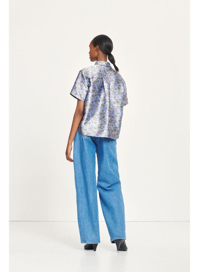 Samsoe Mina shirt Lilac Flower ss 12943 F20500166