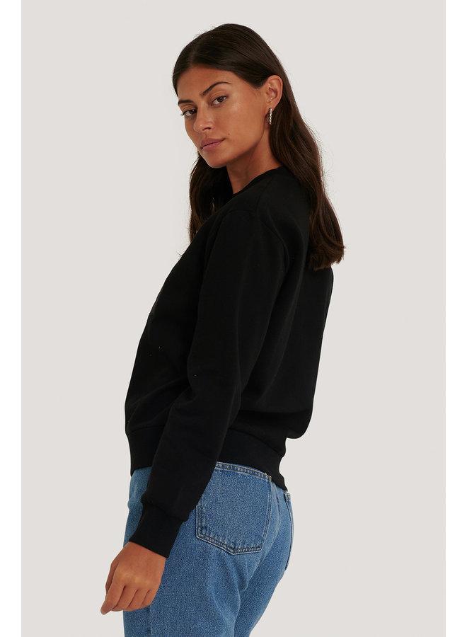 NA-KD Logo Sweater Black 1660-000219